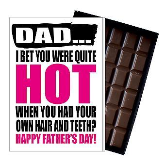 Funny Farsdag gave dum sjokolade Present frekk kort for pappa DADIYF111