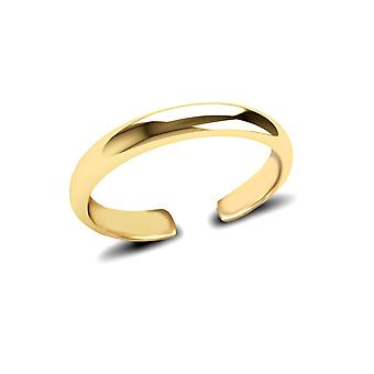 Jewelco London Ladies Solid 9ct Yellow Gold D-Shape Band Toe Ring Jewelco London Ladies Solid 9ct Yellow Gold D-Shape Band Toe Ring Jewelco London Ladies Solid 9ct Yellow Gold D-Shape Band Anneau