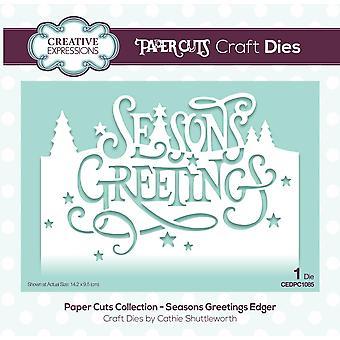 Creative Expressions Die Seasons hälsningar festlig ordalydelse Edgers | Insamling av pappers snitt