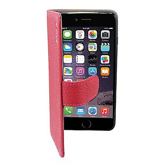 Suncia Leather5 Case for Apple iPhone 6 Plus Dark Pink