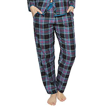 Cyberjammies 4263 kvinnor ' s Ezme Black mix kontrollera bomull pyjamas byxa