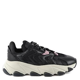 Ash EXTREME Trainers Black Leather & Pink