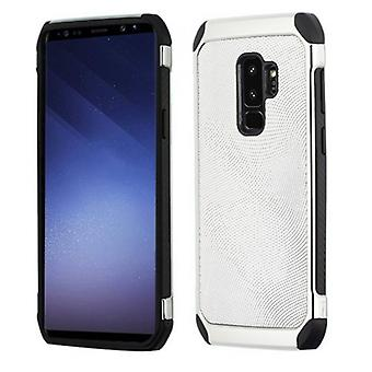 SAMSUNG GALAXY S9 PLUS ASMYNA SILVER DOTS/(SILVER PLATING)/BLACK ASTRONOOT PROTECTOR CASE