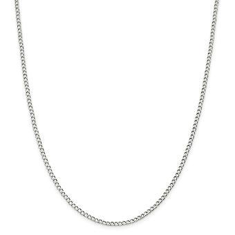 925スターリングシルバーソリッドポリッシュ2.5mmファンシーチェーン足首ブレスレット春輪ジュエリー女性のためのギフト - 長さ:9〜1