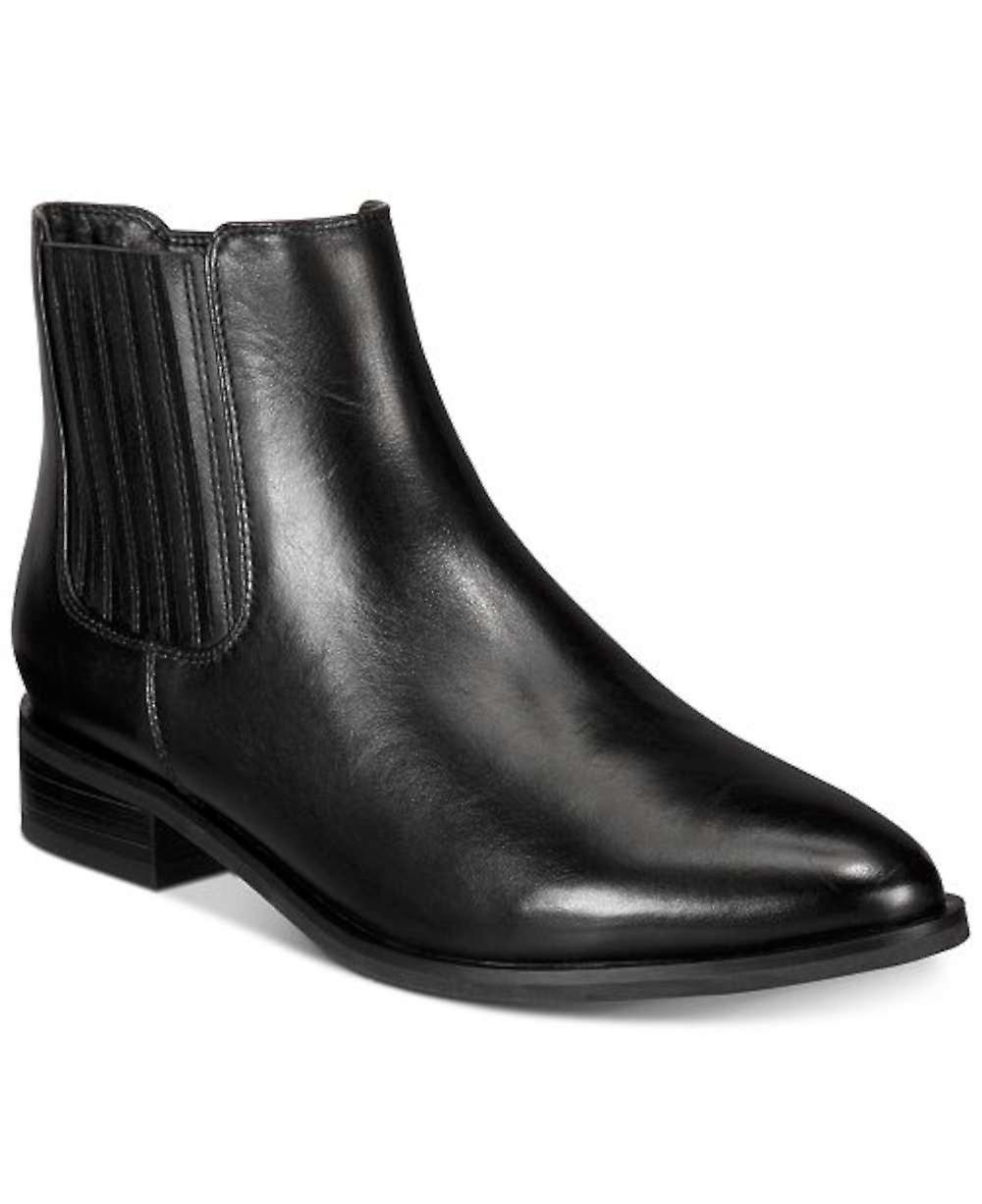 Aqua College Kvinner Courtney Leather Spiss Tå Ankel Mote Støvler