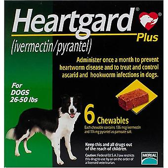 Heartgard Plus For Dogs 12-22kg (26-50lbs) - 6 Chewables