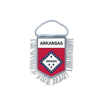 Sinalizar mini bandeira país carro decoração EUA EUA Arkansas