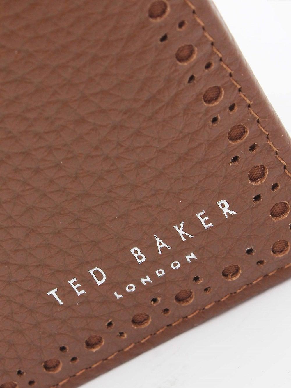 Ted Baker Cobler Bifold Coin Wallet - Tan