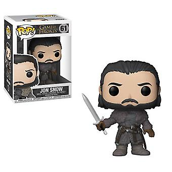 Funko POP Television - Game Of Thrones S8 - Jon Snow (Beyond The Wall) Collectible Figure