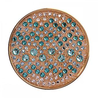 Nikki Lissoni Sense Of Glamour Turquoise Medium Gold Plated Coin C1341GM