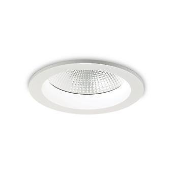 Ideal Lux Basic LED 1 lys forsænket Spotlight hvid IP44 IDL193380