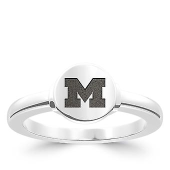 University Of Michigan Engraved Sterling Silver Signet Ring