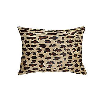 """12"""" x 20"""" x 5"""" Leopard Cowhide - Pillow"""
