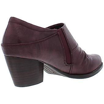 Baretraps Womens Rafaella Faux Leather Ruched Booties Red 8.5 Medium (B,M)