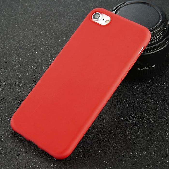 USLION Ultraslim iPhone 6S Plus Silicone Case TPU Case Cover Red