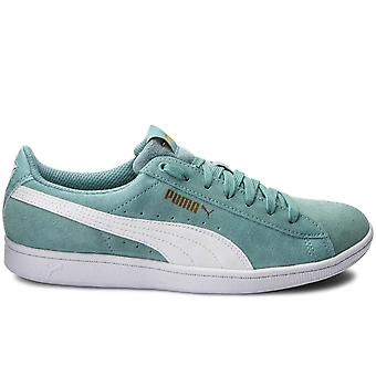 Puma Womens Vikky Suede Low Top Lace Up Fashion Sneakers