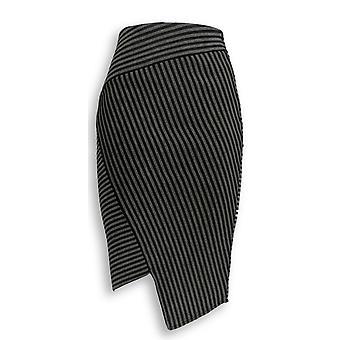 G.I.L.I. got it love it Skirt Asymmetric Stripe Scuba Gray/ Black A268407