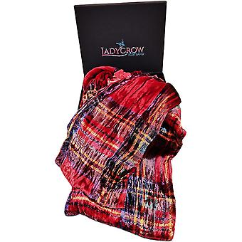 Tartan Silk Velvet Collection Sjaal door Ladycrow Scotland - Red Stewart