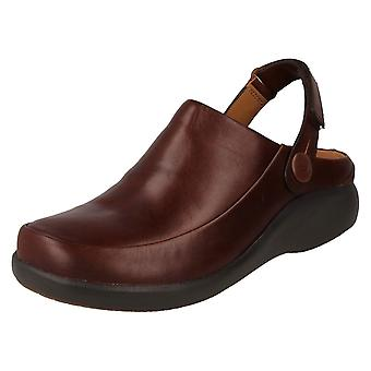 Ladies Unstructured by Clarks Slip On Mule Shoes Un Loop 2 Strap