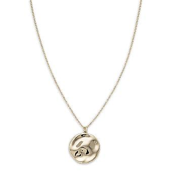 Rosefield JTXCG-J078 necklace and pendant - IGGY Collier Collection with M daillon Relief dor yellow Laiton Women
