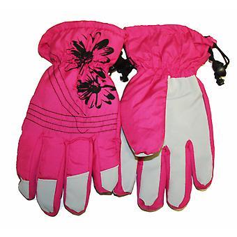 Ladies Printed Waterproof Ski Thermal Lined Warm Winter Weather Snow Gloves GL47