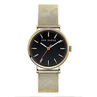 Ted Baker BKPPHF919 Women's Phylipa Gold Tone Mesh Wristwatch