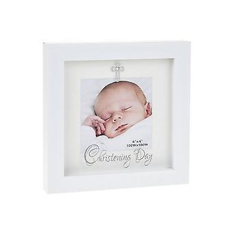 Shudehill Giftware Modern White 4 X 4 Frame Christening