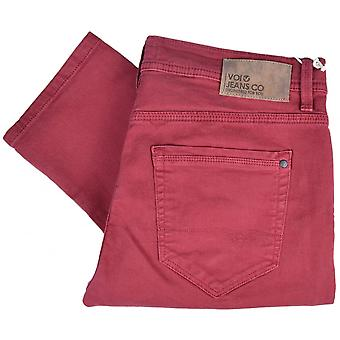 Voi Jeans Lj 1250 Super Slim Wine Red Jeans