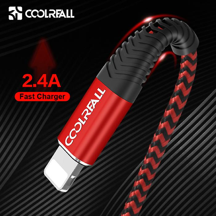 Coolreall Lightning USB Charging cable Data cable 2M Braided Nylon Charger iPhone / iPad / iPod Blue