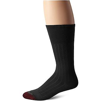 Allen Edmonds Men's Cotton Rib Mid Calf Socks, Charcoal, Sock Size:10-13/Shoe...