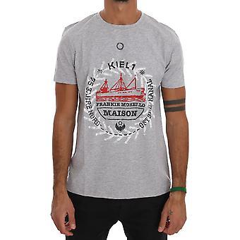 Frankie Morello Gray Cotton Maison T-Shirt