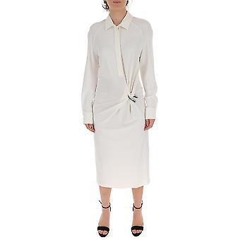 Bottega Veneta 609304vkij09122 Women's White Viscose Dress