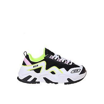 Msgm 2841mds70014012 Women's Multicolor Læder Sneakers