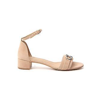 Salvatore Ferragamo 01p087726473 Women's Nude Suede Sandals