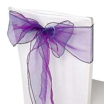 17cm x 274cm Organza Table Runners Wider et Fuller Sashes Violet Purple