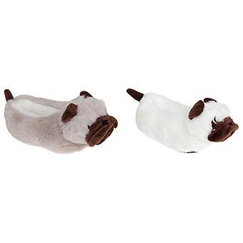 Slumberzzz Kids Pug Slippers