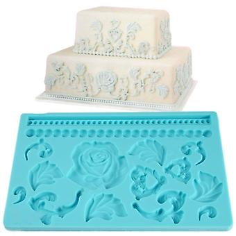 Lace Shaped Rose Silicone Mold Fondant Cake Decoration Baking Tool