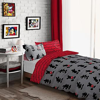 Mickey Mouse Pops of Red Bedding Set - Single