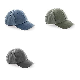 Beechfield Unisex Low Profile Vintage Denim-Look Cap (Pack of 2)