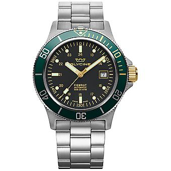 Combat Automatic Analog Men's Watch with GL0272 Stainless Steel Bracelet