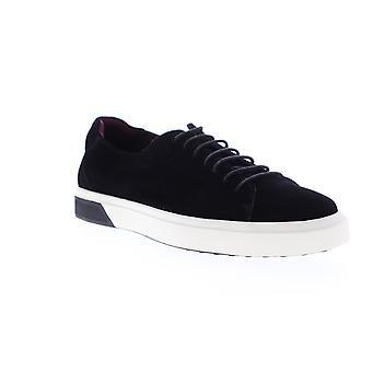 Zanzara SOL  Mens Black Suede Lace Up Low Top Sneakers Shoes