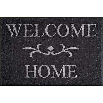 Wash & Dry Fußmatte waschbar Welcome Home anthrazit 50x75 cm 004752