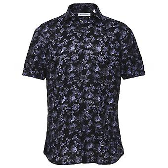 Baldessarini Linen Floral Short Sleeve Keith Shirt
