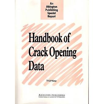 Handbook of Crack Opening Data A Compendium of Equations Graphs Computer Software and References for Opening Profiles of Cracks in Loaded Component by Gray & T. G. F.