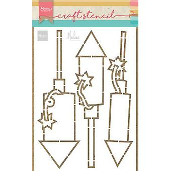 Marianne Design Craft Stencil Ilotulitus Marleen Ps8050 21x15 cm