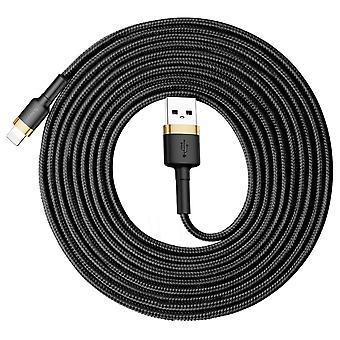 Baseus 2A 8 Pin auf USB Ladekabel Datenkabel 3m Schwarz Gold Zubehör Charging