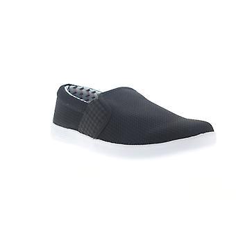 Ben Sherman Presely Gingham Slip Auf Herren Schwarz Mesh Sneakers Schuhe