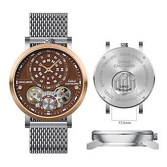 Carlo Cantinaro CC1004GM015 Men's Watch Quartzmatic GMT