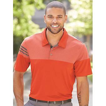 Adidas - heather 3-stripes block sport shirt - a213