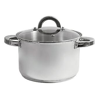 Pot with Glass Lid Quttin Stainless steel/� 18 cm - 3 L